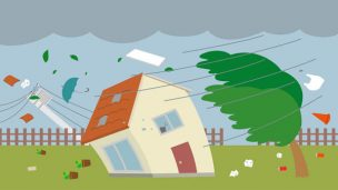 火災保険・風災(台風・竜巻)の必要性!風災と雨漏り、家財の保険の関係