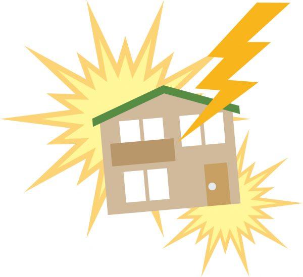 落雷は火災保険が適用されて保険金請求できる?