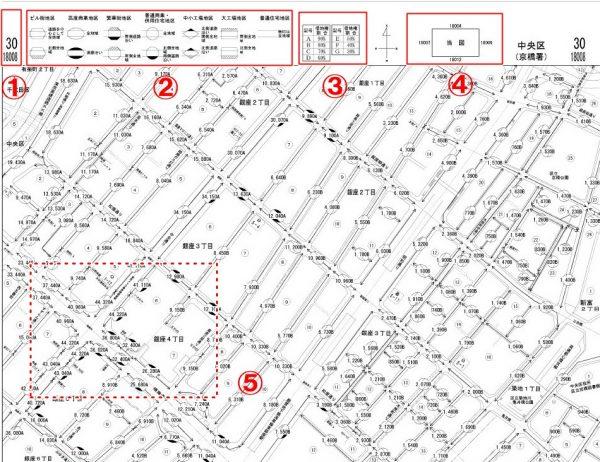 路線価図の見方の具体例