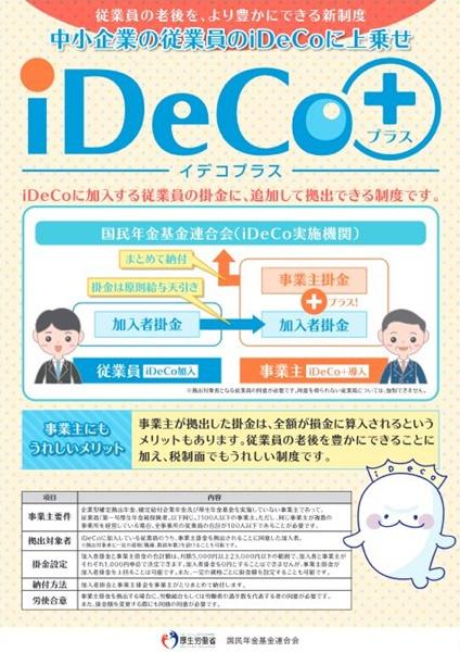 iDeCo+(イデコプラス:中小事業主掛金納付制度)とは?